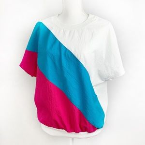 Vintage 80's Athleisure Pull Over Oversized Shirt